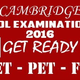 Cambridge ESOL Examination March 2016.