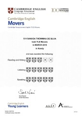 YLE  MOVERS EXAM Results (Unex English College)  (4)