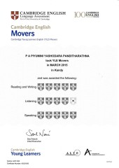 YLE  MOVERS EXAM Results (Unex English College)  (14)
